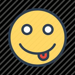 emoticon, emotion, face, smiley, teasing, tongue, vatar icon