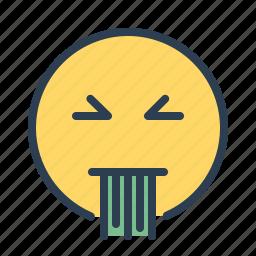 avatar, emoticon, emotion, face, puke, sick, smiley icon