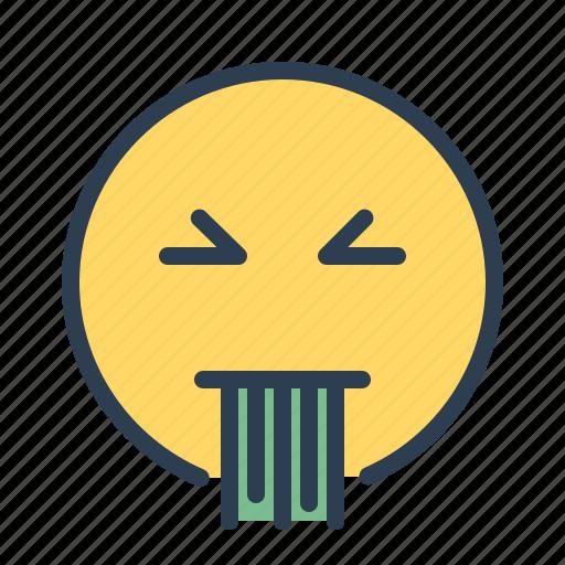 emoji, puke, sick, smiley icon