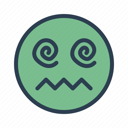 avatar, drooling, emoticon, emotion, face, hypnosis, smiley icon