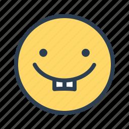 avatar, emoticon, emotion, face, kid, smiley, teeth icon