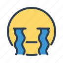 avatar, crying, emoticon, emotion, face, smiley, tears icon