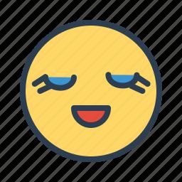 avatar, cute, emoticon, emotion, eyelash, face, smiley icon