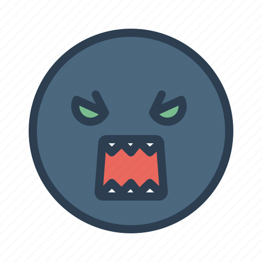 avatar, emoticon, emotion, evil, face, monster, smiley icon