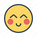 emoji, face, serving, smile icon