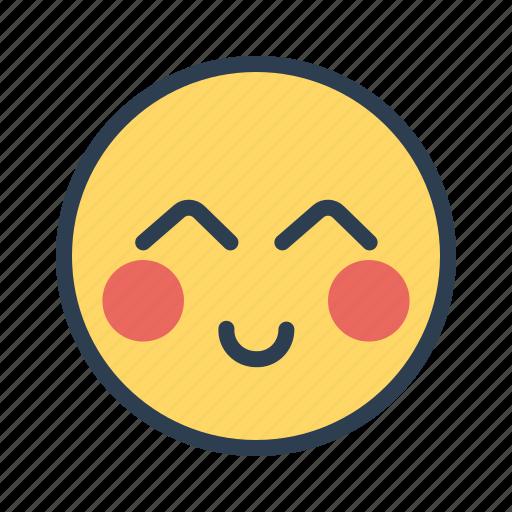 emoji, face, serving, smile icon