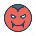 avatar, dracula, emoticon, emotion, face, smiley, vampire icon