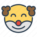 avatar, clown, emoticon, emotion, face, holiday, smiley icon