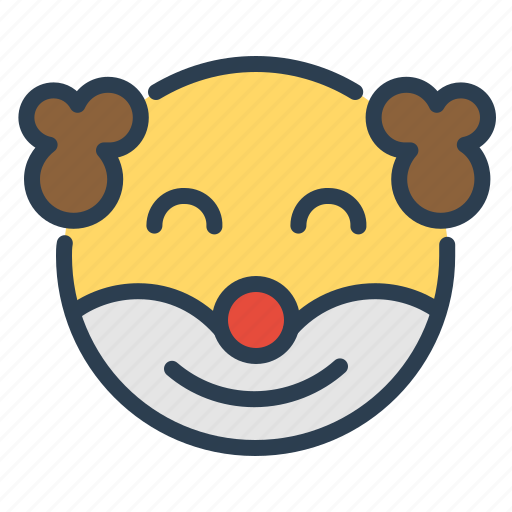 clown, emoji, face, holiday icon