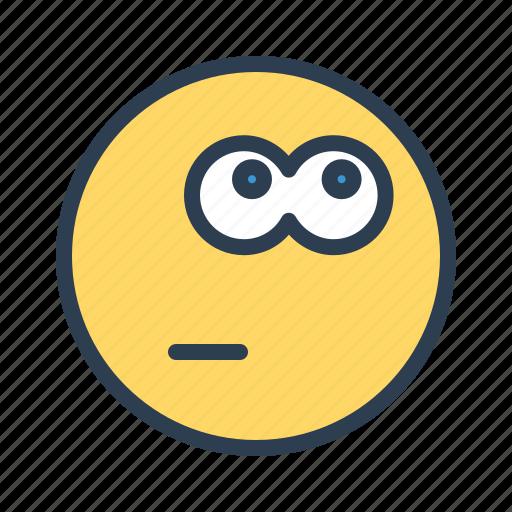 avatar, emoticon, emotion, face, smiley, think, thinking icon