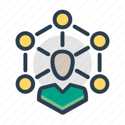 collaboration, community, connection, person, social network, teamwork icon