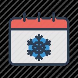 calendar, cold, event, month, season, weather, winter icon