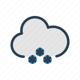 cloud, cloudy, forecast, snow, snowfall, snowflakes, winter icon