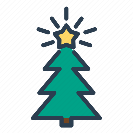 pine, star, tree, winter, xmas icon