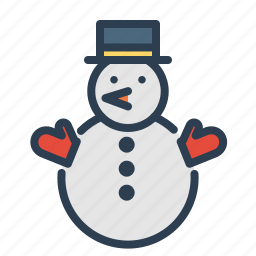 christmas, hat, leisure, snow, snowman, winter, xmas icon