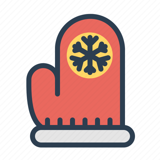 christmas, cold, glove, holiday, snow, winter, xmas icon