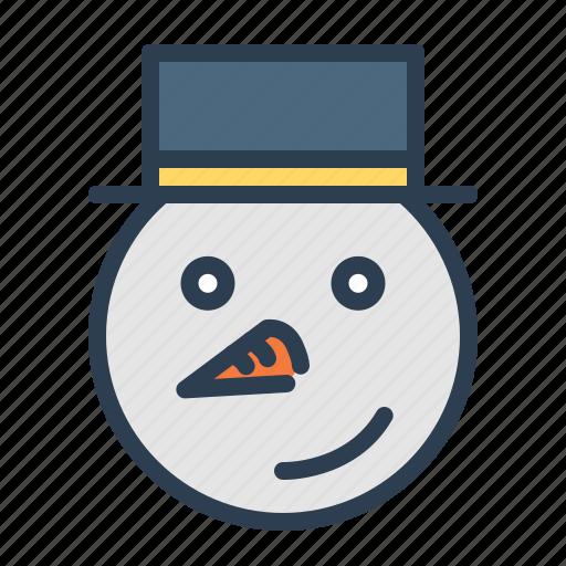 carrot, christmas, hat, snow fun, snowman, winter, xmas icon