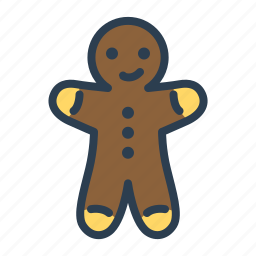 chistmas, cookies, ginger, man, sweet, winter, xmas icon
