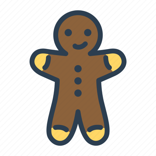 cookies, ginger, man, sweet icon