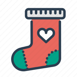 christmas, decoration, sock, stocking, winter, xmas icon
