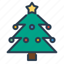 christmas, decoration, new year, pine, tree, winter, xmas icon