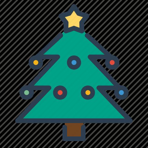 christmas, decoration, new year, pine, tree, winter, xmas icon
