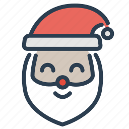 christmas, claus, head, santa, santa claus, winter, xmas icon