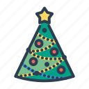 balls, christmas, decoration, pine tree, star, winter, xmas icon