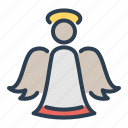 angel, christmas, holy spirit, saint, wings, winter, xmas icon