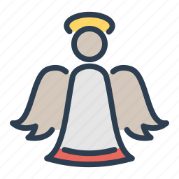 angel, christmas, holy spirit, saint, wings, winter, xmas icon
