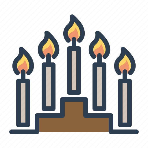 candels, christmas, decoration, fire, minorah, winter, xmas icon