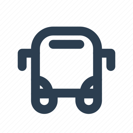 bus, location, public, station, transport, transportation, travel icon