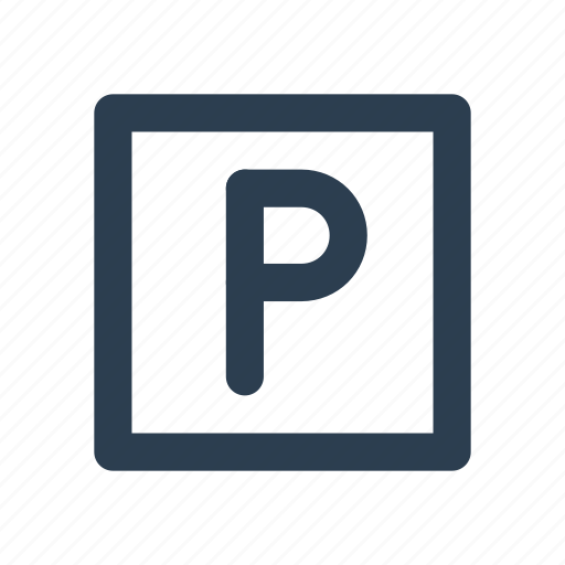area, car parking, location, public, road, transport icon