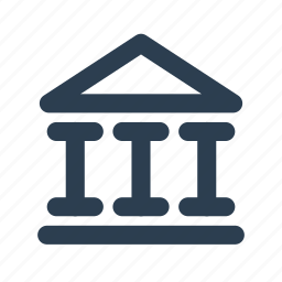 bank, city, goverment, institution, legal, location, panteon icon