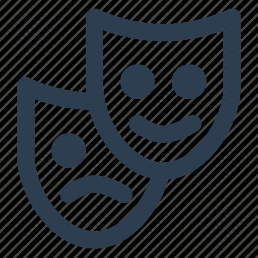 leasure, mask, role, theatre icon