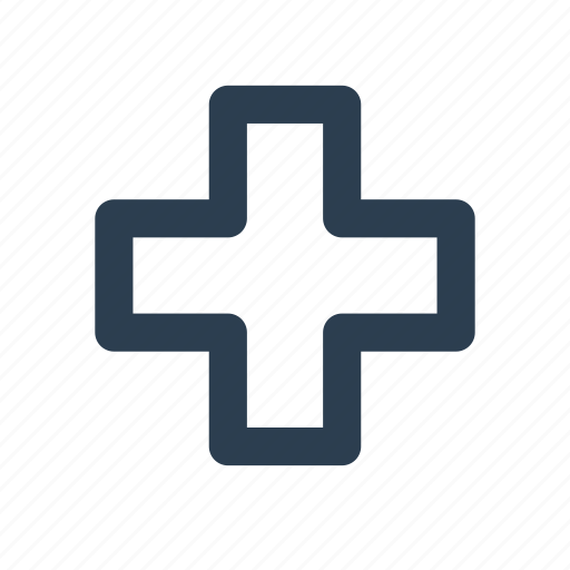 ambulance, cross, drug store, first aid, hospital, location, medical help icon