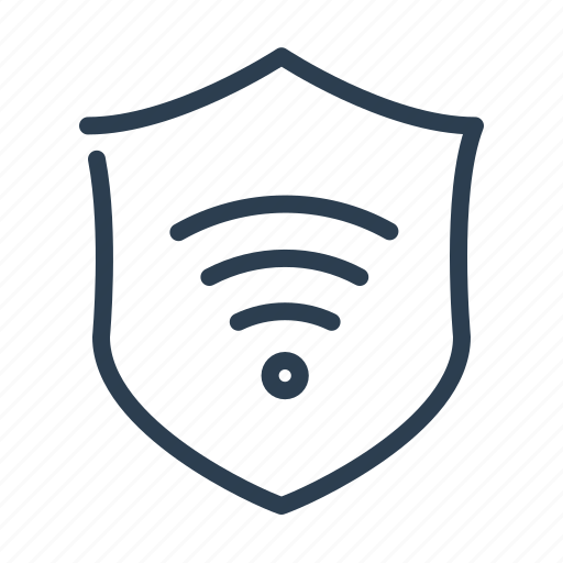 access, guard, protect, protection, security, shield, wifi icon