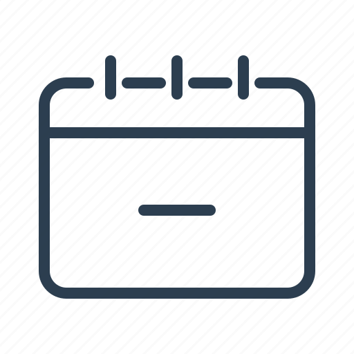 calendar, date, event, minus, remove, schedule, task icon