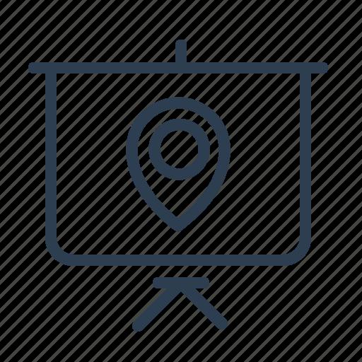 board, local, location, map, marker, pin, presentation icon