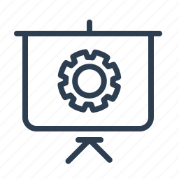 blackboard, gear, optimization, presentation, search engine, seo training, settings icon
