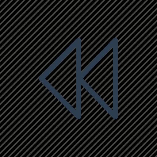 arrow, audio, back, previous, reverse, rewind, skip icon