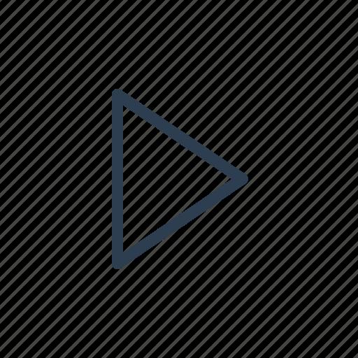 audio, control, movie, music, play, start, video icon