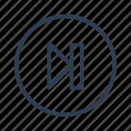 arrow, audio, forward, next, player, right, skip icon