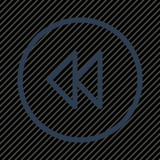 arrow, audio, back, left, previous, reverse, rewind icon