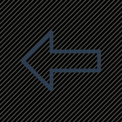 arrow, back, direction, left, navigate, prev, previous icon