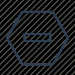 delete, forbidden, minus, prohibited, remove, restricted, stop icon