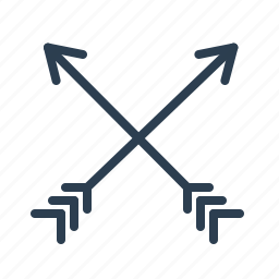 arrows, crossed, directions, hipster, location, mix, navigation icon