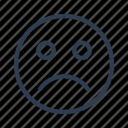 avatar, emoticon, emotion, face, sad, smiley, unhappy icon