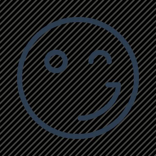 avatar, blink, emoticon, emotion, face, smiley, wink icon