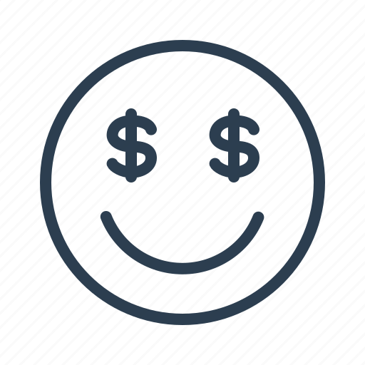 avatar, dollar, emoticon, emotion, face, money, smiley icon